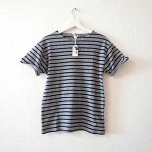NWT Armor Lux striped t shirt Sz 2 M medium (e6)